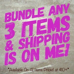 Bundle 3 Items Priced at $10+ for Free Shipping